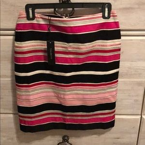 Talbots Pink and Black Pencil Skirt